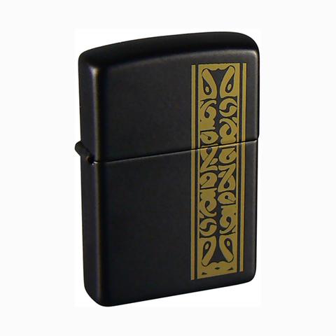 Зажигалка Zippo Black/brass