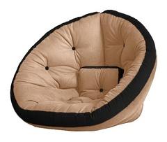 Кресло Farla Lounge Бежевое с чёрным