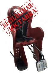 Велокресло для детей HTP ELIBAS T (красное), крепление к подседельной трубе