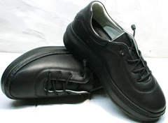 Черные женские кеды из натуральной кожи Rozen M-520 All Black.