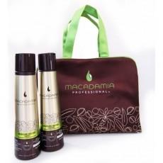 """Macadamia Professional: Дорожный набор """"Питание и увлажнение волос"""": шампунь, кондиционер (Nourished Tresses), 2*300мл"""