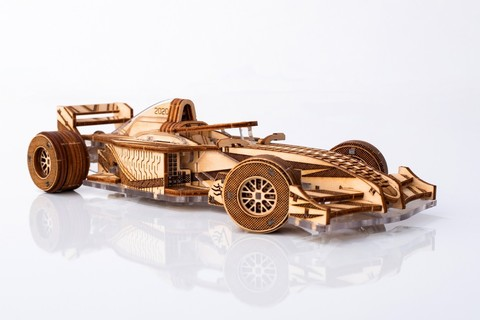 SpeedRacer-V3 от Veter Models - Деревянный спидстер V3, конструктор, сборная модель, 3D пазл, гоночный спорткар