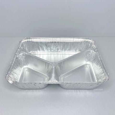 Трехсекционный контейнер из пищевой алюминиевой фольги MR3-28L