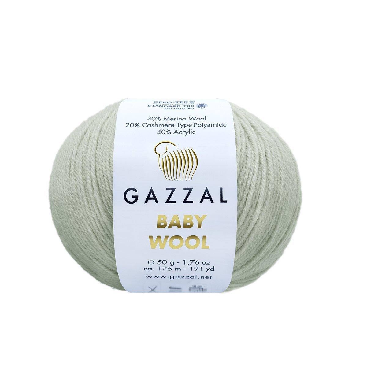 Пряжа Gazzal Baby Wool 817 серый