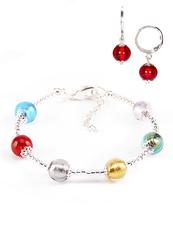 Комплект Carnavale Argento (браслет и серьги Piccolo красные)