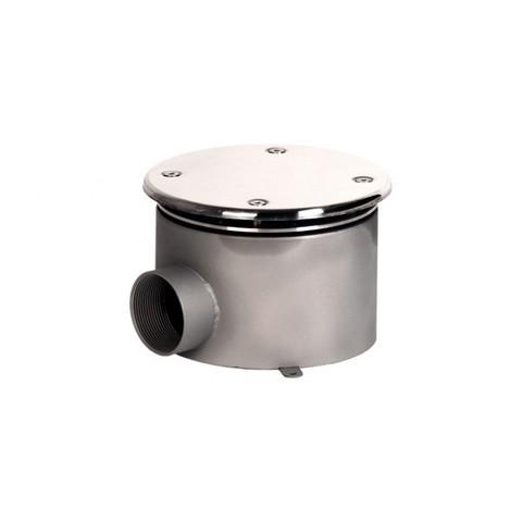Донный слив круглый с антивихревой крышкой диаметр 165х100 нержавеющая сталь AISI-304 внутреннее подключение 2