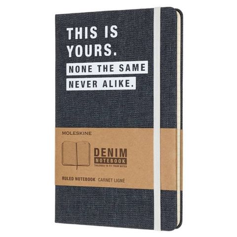 Блокнот Moleskine Limited Edition DENIM NOTEBOOKS LCDNQP060T Large 130х210мм 240стр. линейка This Yors
