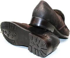 Стильные мужские мокасины туфли зимние Welfare 555841 Dark Brown Nubuk & Fur.