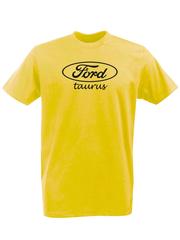 Футболка с принтом Ford, Taurus (Форд, Таурус) желтая 002