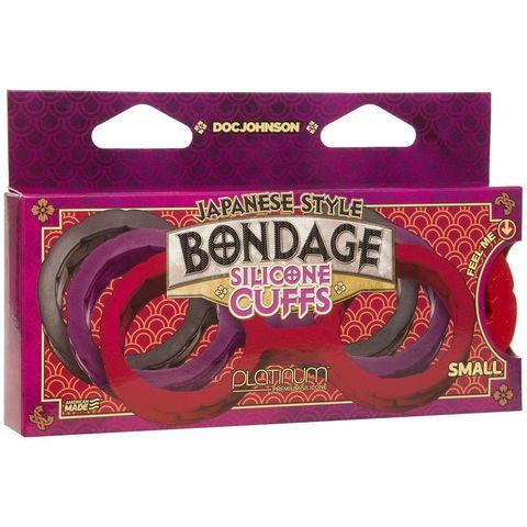 Черные силиконовые наручники Style Bondage Silicone Cuffs Small