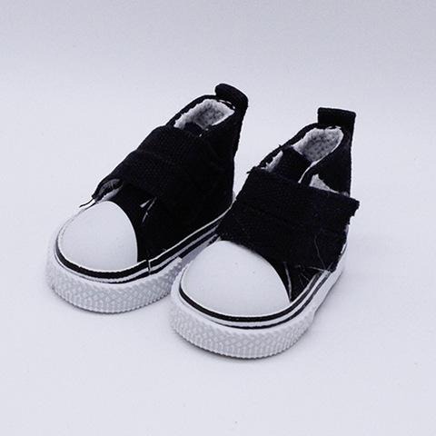 Взуття для ляльки Let's make Кеди на липучці чорні