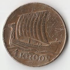 Монета 1 крона Эстония 1934 года.