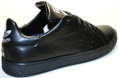 Черные кроссовки женские adidas stan smith black Indi-R