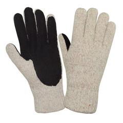 Перчатки рабочие Айсер шерстяные со спилковыми накладками (утепленные)