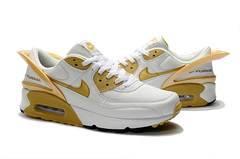 Nike Air Max 90 FlyEase 'White/Metallic Gold'