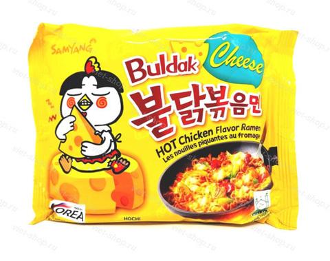 Корейская лапша со вкусом острой курицы и сыра, Samyang, 140 гр.