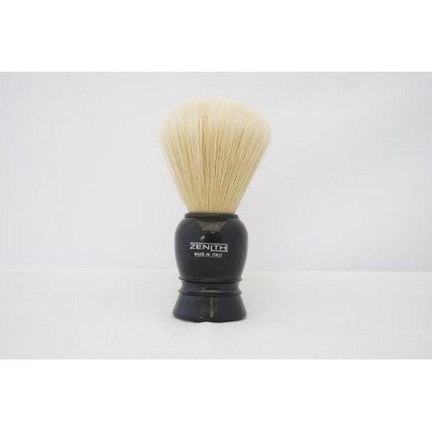 Помазок для бритья Zenith черная ручка,натуральный кабан