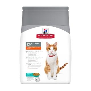 купить хиллс Hill's™ Science Plan™ Feline Sterilised Cat Young Adult with Tuna сухой корм для котят и стерилизованных кошек с 6 мес. до 6 лет с тунцом 3.5 кг