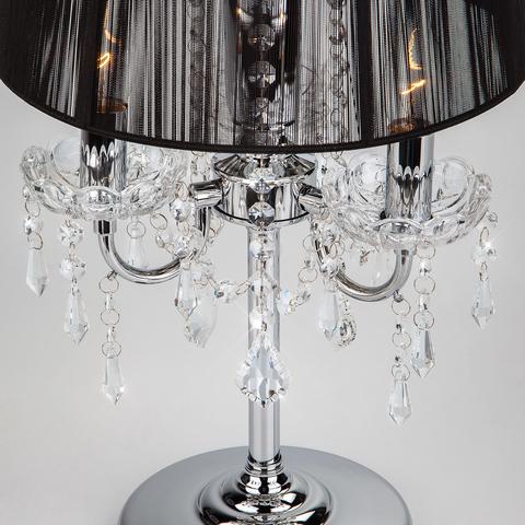Настольная лампа 2045/3T хром/черный