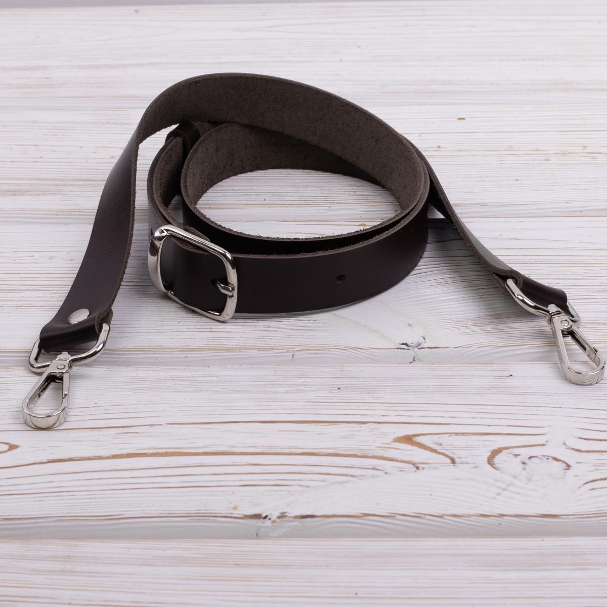 """Ручки для сумок через плечо Ручка кожаная через плечо """"Темно-коричневая"""" IMG_6969.jpg"""