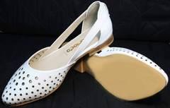 Закрытые босоножки на низком каблуке женские Evromoda 286.85 Summer White.