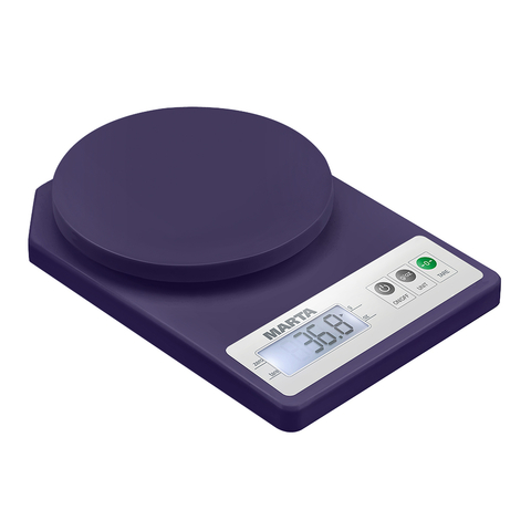 Весы кухонные сенсор MARTA MT-1637 темный топаз