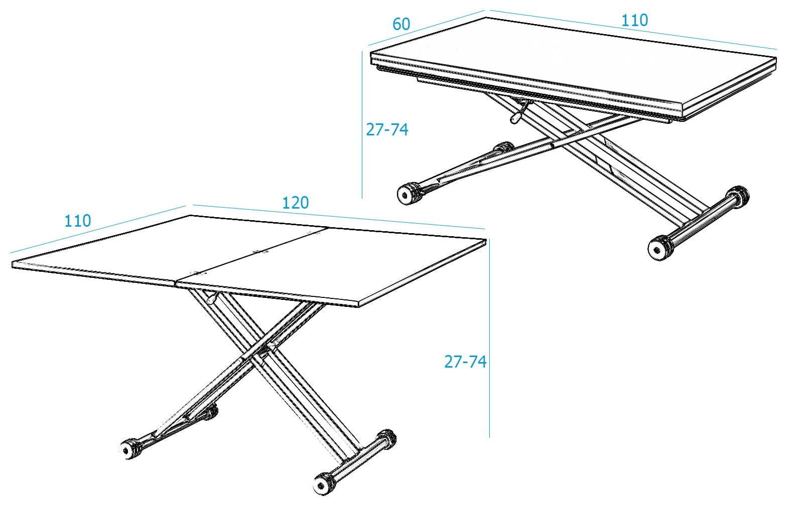 Стол-трансформер ESF В2166 белый лак