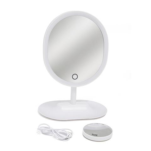 Зеркало для макияжа с подсветкой Touch, USB/4xAAA