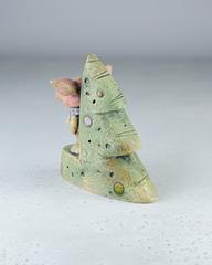 Скульптурка из шамотной глины «Новогодний хрюша», 13х15 см,Falco Ceramic