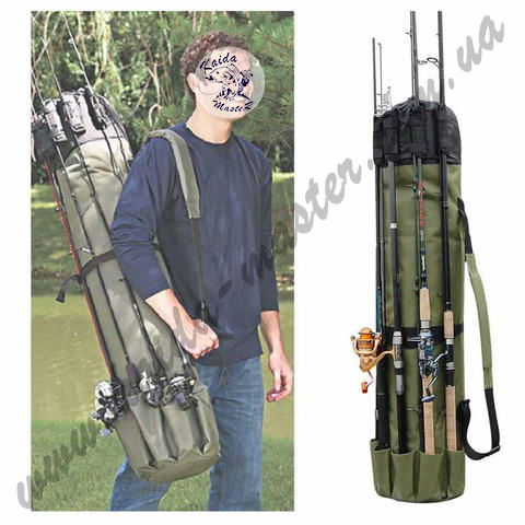Чехол-сумка KAIDA для удилищ и рыболовных снастей 122*35,5 см