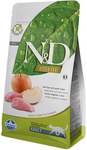 Сухой корм для кошек Farmina N&D Prime Adult беззерновой с кабаном и яблоком 5 кг