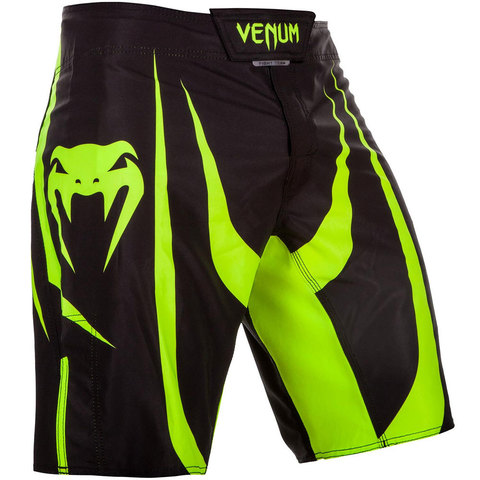 Шорты Venum Predator Fightshorts - Black/Neo Yellow