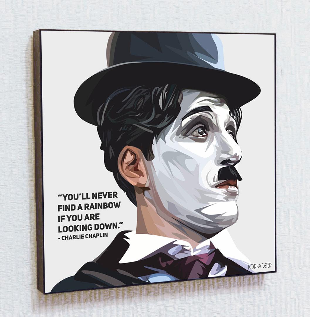 Картина ПОП-АРТ Чарли Чаплин