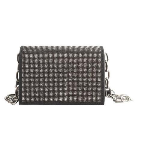 Черная сумка-клатч с эффектным клапаном