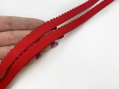 Резинка отделочная красная 12 мм (цв. 100)