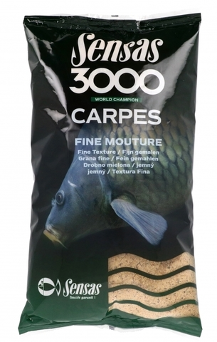 Прикормка Sensas 3000 CARP Fine Mouture 1кг