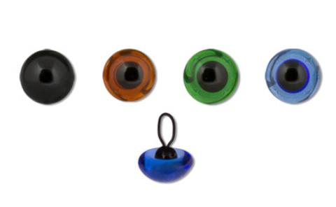 Глаза стеклянные на петле d 8 мм 2 шт.