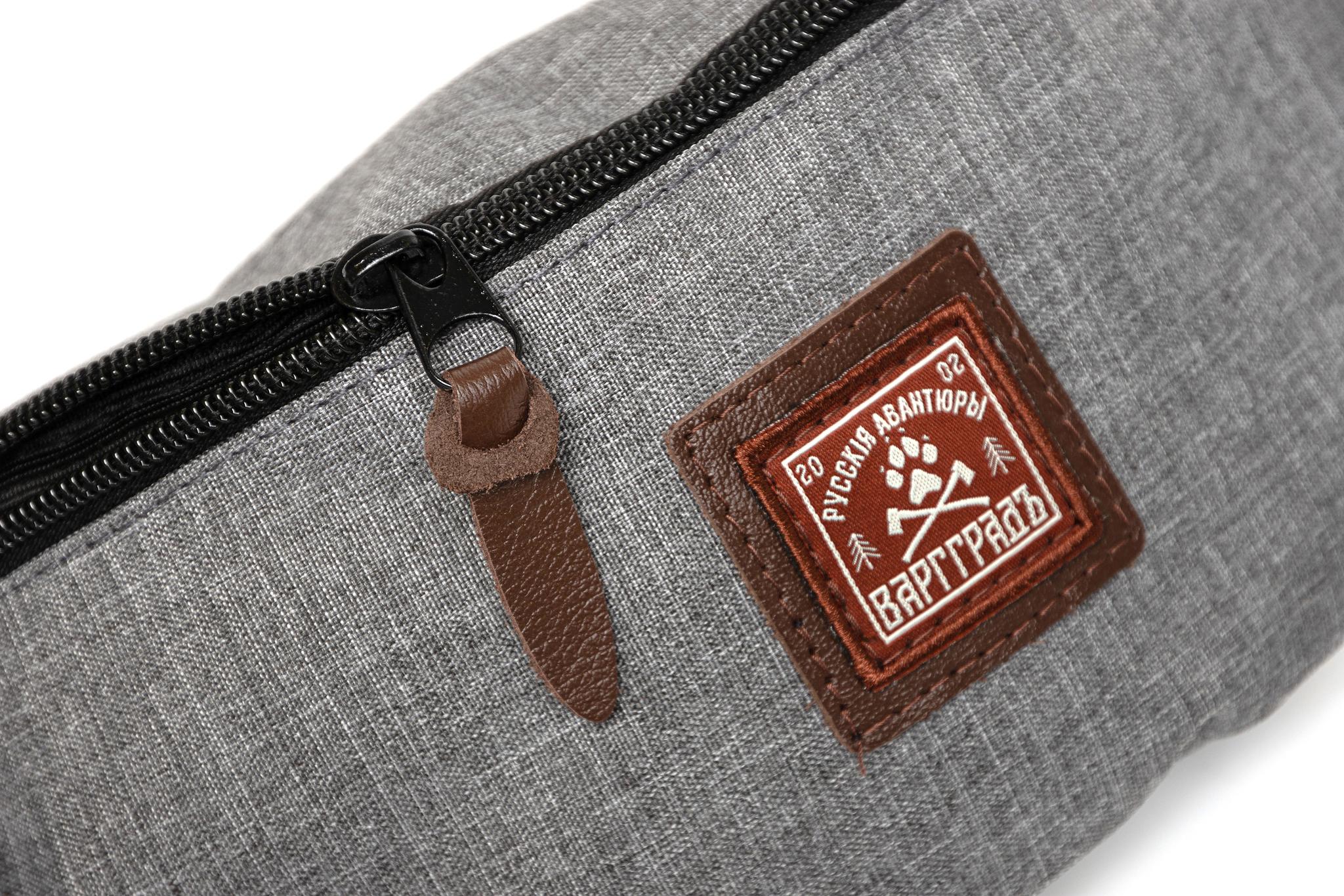 Сумка поясная Варгградъ светло-серый джинс