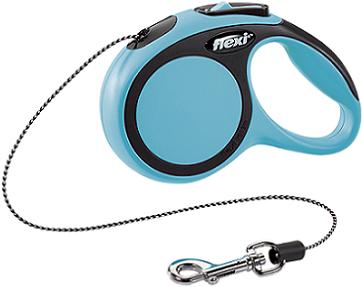 Рулетки Поводок-рулетка Flexi New Comfort XS (до 8 кг) трос 3 м черный/синий d1749609-3794-11e6-80f8-00155d29080b.png