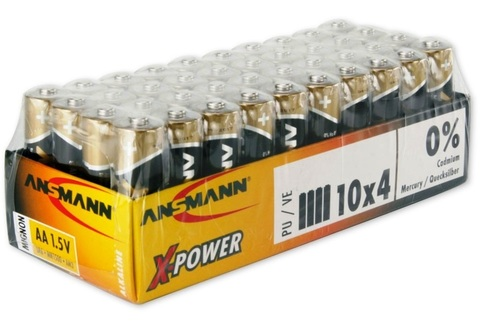 Батарейка ANSMANN X-Power AAA (1.5V) - 40 шт.