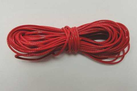 Шнур вощеный для браслетов и рукоделия 1мм*9м. Цвет красный  (30991)