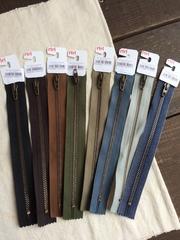 Молния джинсовая №4, Riri, 18см, бежево зеленоватый