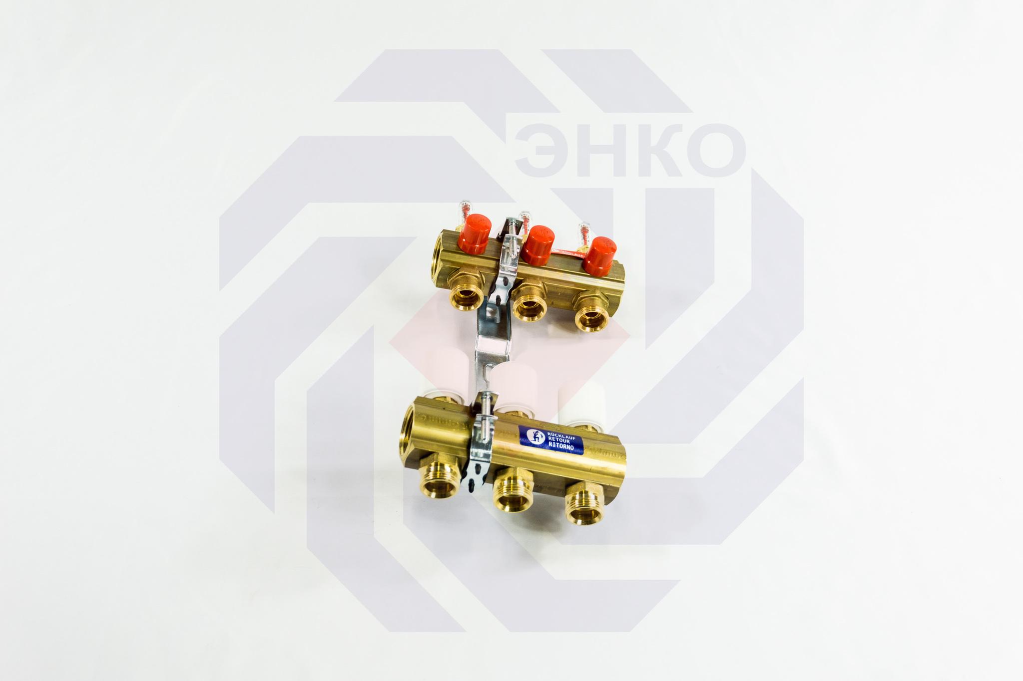 Комплект коллекторов с расходомерами GIACOMINI R553F 3 контура