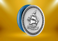 Силиконовый молд  Парусник медальон