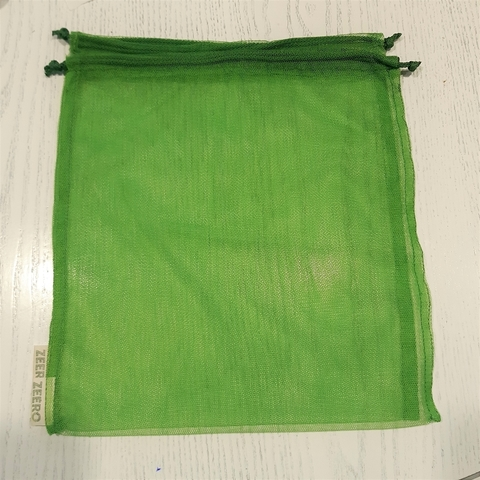 Экомешочек средний (зеленый) 25Х30 см (уценка 20%)