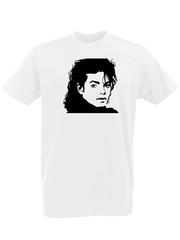 Футболка с принтом Майкл Джексон (Michael Jackson) белая 0002