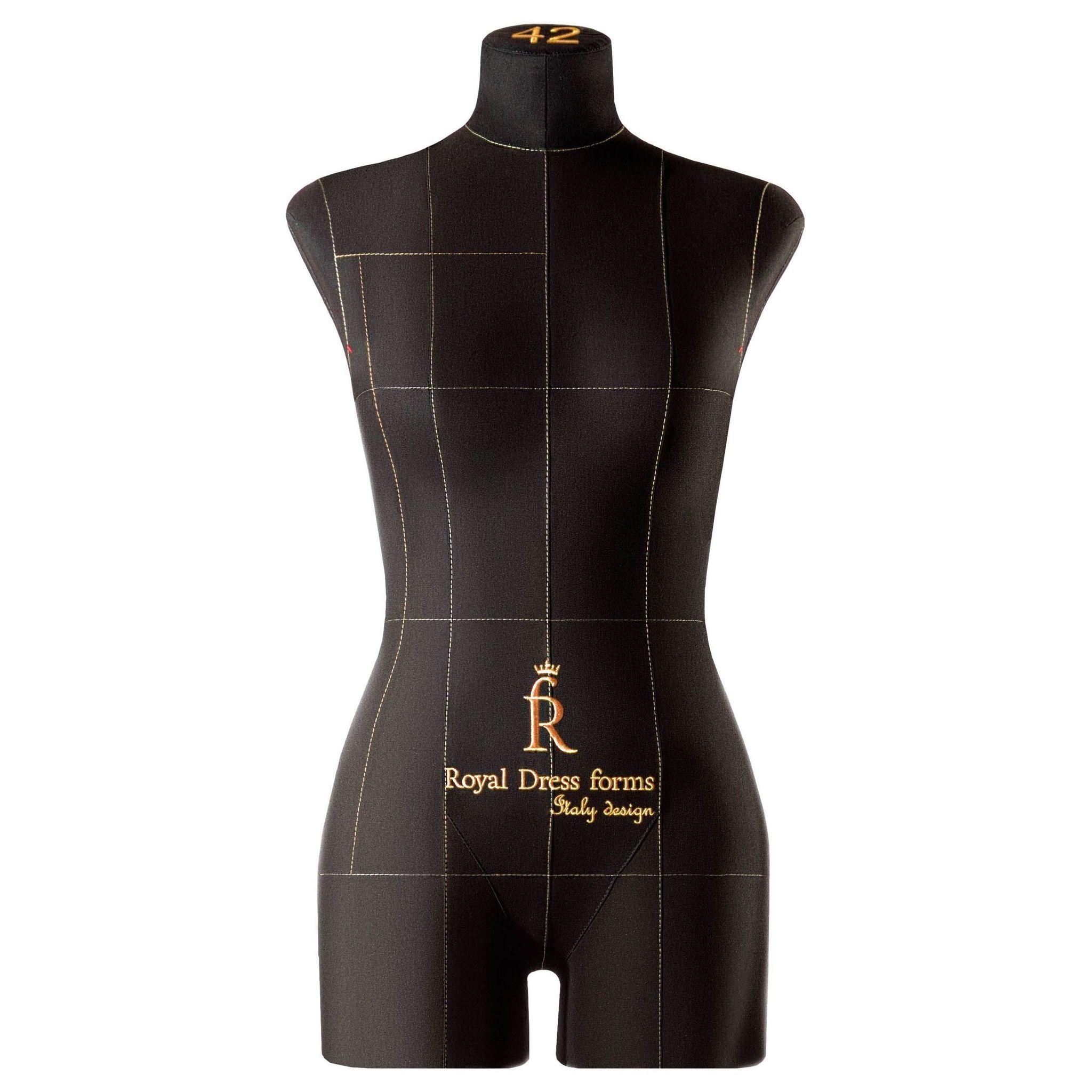 Манекен портновский женский Monica с подставкой Милан, черный, размер 42