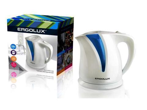 Чайник Ergolux ELX-KP03-C35 белый/голубой