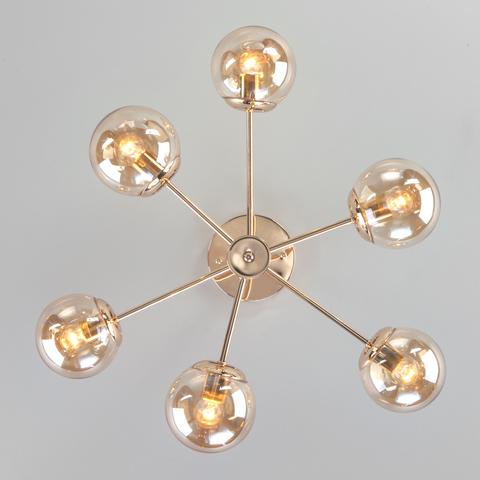 Потолочная люстра со стеклянными плафонами 30166/6 золото