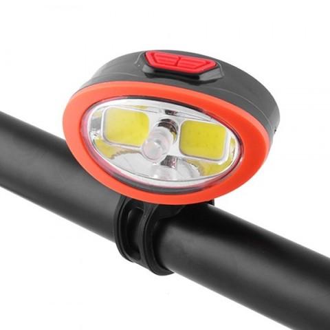 Фонарь для велосипеда 509-2COB, ЗУ microUSB, встроен. аккумулятор